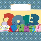 New Year 2013. Cute card on New Year 2013 with funny numbers Royalty Free Stock Image