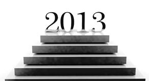 New year 2013. On a podium Royalty Free Stock Images