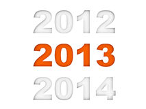 New year 2013. 3d render Stock Image