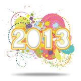 New year 2013. Happy new year 2013 ,new year card stock illustration