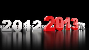 New Year 2013. 3d render illustration Royalty Free Stock Photography