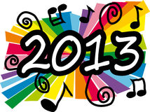 New year 2013. Colorful new year 2013 party illustration Royalty Free Stock Photography