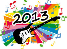New year 2013. Colorful new year 2013 party with guitar illustration vector illustration