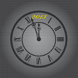 New Year 2013. Old-fashioned clock with 2013 mark on metal sheet background vector illustration