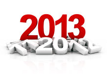 New year 2013. 3D Render of the new year 2013 and other years Royalty Free Stock Image