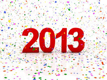 New year 2013. 3D Render of the new year 2013 Royalty Free Stock Photos