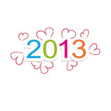 New year 2013. Cute and colorful calendar on New Year 2013 Royalty Free Stock Photos