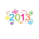 New year 2013. Cute and colorful calendar on New Year 2013 Stock Photos