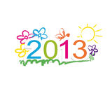 New year 2013. Cute and colorful calendar on New Year 2013 Royalty Free Stock Images