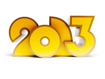 New year 2013. 3d render Stock Photos