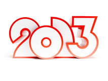 New year 2013. 3d render Royalty Free Stock Photos