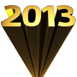 New year 2013. Golden 2013 on the white background Stock Illustration