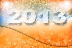 New year 2013. 2013 orange and blue shining background Stock Photo