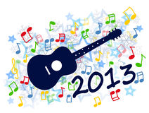 New year 2013. Colorful new year 2013 party with guitar illustration royalty free illustration