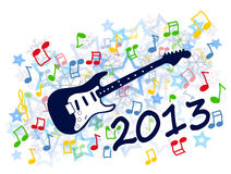 New year 2013. Colorful new year 2013 party with guitar illustration stock illustration