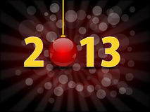 New Year 2013. 2013 Happy New Year illustration Stock Photos