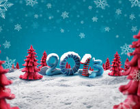 New year 2013. Happy new year 2013 with plastecine Stock Photo
