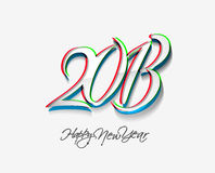New year 2013. Background for new year paper calender design Royalty Free Stock Image