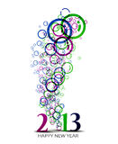 New year 2013. Background for new year paper calender design Stock Photos