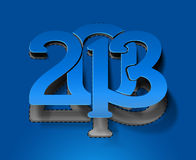 New year 2013. Background for new year paper calender design Stock Photography
