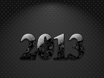 New year 2013. Metallic textured background with floral ornate digits Royalty Free Stock Photos