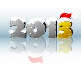 New year 2013. 3d new year 2013 design element. Vector illustration Royalty Free Stock Photo