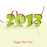 New year 2013. 3d new year 2013 design element. Vector illustration Royalty Free Stock Image