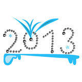 New Year 2013. Illustration of figures year 2013 Royalty Free Stock Images