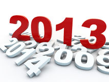 New Year 2013. Over white background Royalty Free Stock Images
