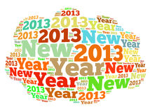 New Year 2013. 2013 new year text graphics and arrangement concept on white background Stock Photos