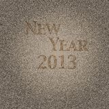 New year 2013. Illustration with wood effect and New year 2013 Royalty Free Stock Image