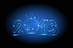 New year 2013. On dark background Stock Photos