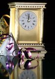 New year 2013. Image of New years eve celebration with hats and clock in year 2013 Royalty Free Stock Photo