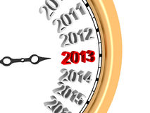 New Year 2013. 3d image of new year's clock in 2013 Royalty Free Stock Images