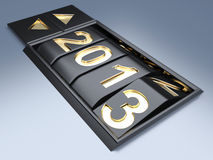 New Year 2013. 3d render illustration Stock Images
