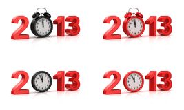 New Year 2013. White background, 3d render Stock Image