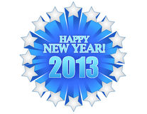 New year 2013. Illustration design over white Stock Photo