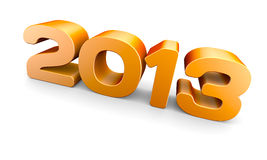 NEW YEAR 2013. Concept. A 3D rendering vector illustration