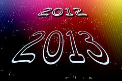 New year 2013. A background illustration for the new year 2013 Royalty Free Stock Image