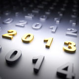 New Year 2013. 3d render illustration Royalty Free Stock Images