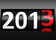 New year 2013. Counter number 2013 black new year Stock Photography