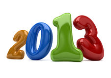 New year 2013. Color number 2013 on a white background new year Royalty Free Stock Images