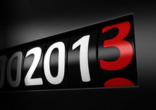 New year 2013. Counter number 2013 black new year Royalty Free Stock Photo
