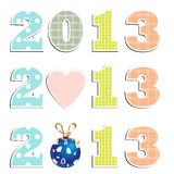 New Year 2013. 2013 Design Isolated on White Background Royalty Free Stock Photo
