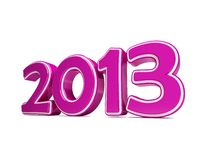 New year 2013 3d. New year 2013 on a white background Stock Photos