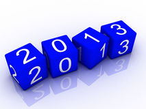 New year 2013, 3d. Render Royalty Free Stock Photos