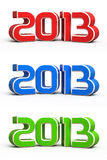 New year 2013 3d render Stock Photos