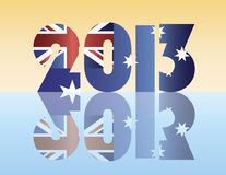 New Year 2013 Australia Flag Illustration Royalty Free Stock Photos