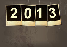 New year 2013 background. New year 2013 grunge background stock illustration