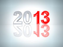 New Year 2013 background. With clipping path Royalty Free Stock Photography
